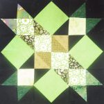 """Kansas Star"" quilt block made by Meloney F. who tested this ""Midnight Stargazer pattern for TK Harrison!"
