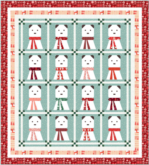 """A Beary Christmas"" Free Christmas Pattern designed by Wendy Sheppard from Michael Miller Fabrics"