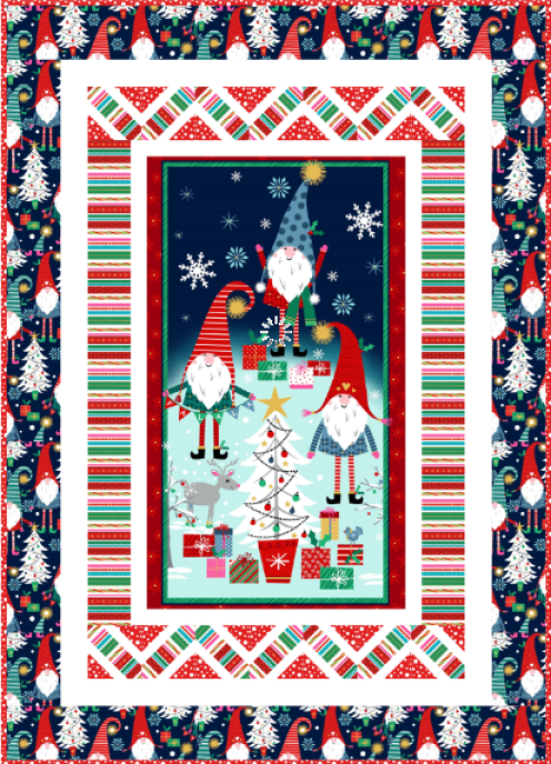 """Do the Peppermint Twist"" a Free Christmas Pattern designed by Natalie Crabtree from Michael Miller Fabrics"