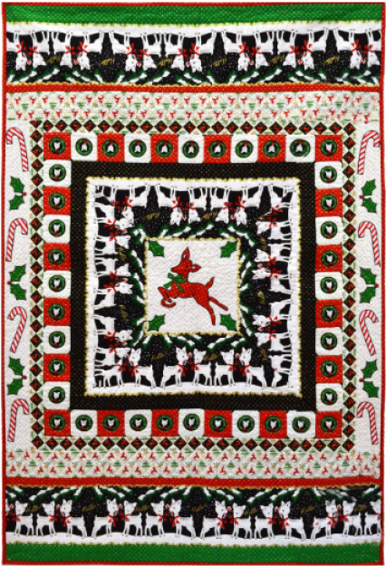"""Hello, My Deer"" a Free Christmas Pattern designed by Marinda Stewart from Michael Miller Fabrics"