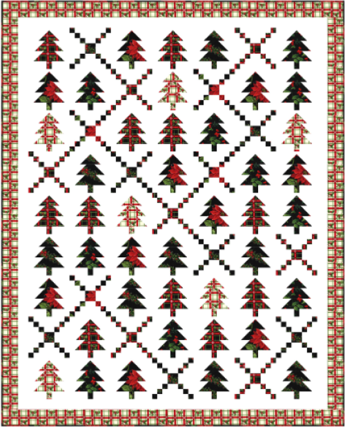 """Holiday Forest"" a Free Christmas Pattern designed by Wendy Sheppard from Michael Miller Fabrics"