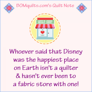 BOMquilts.com's Meme: Is Disney really the happiest place on Earth?!