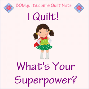 BOMquilts.com's Meme: I Quilt! What's Your Superpower?