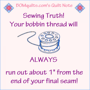 BOMquilts.com's Meme: Sewing Truth!