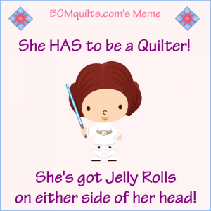 BOMquilts.com's Meme: She HAS to be a Quilter!
