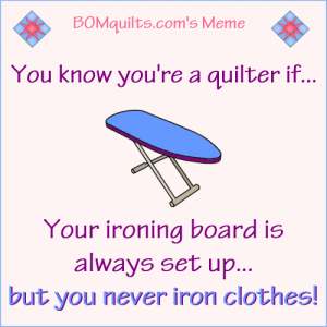 BOMquilts.com's Meme: You know you're a quilter if...!