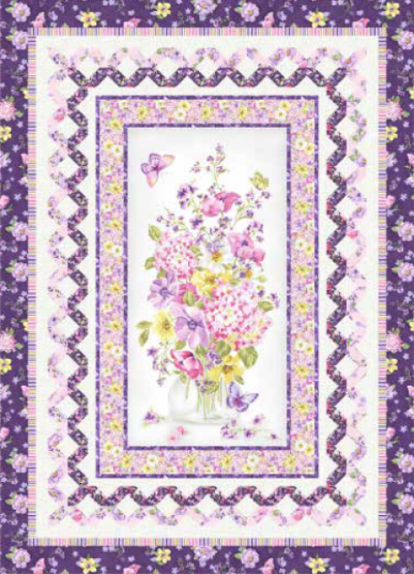 """""""Delicate Beauty"""" Free Easter Quilt Pattern designed by Wendy Sheppard from Michael Miller Fabrics"""