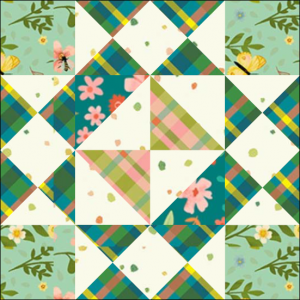"""Girl's Favorite Quilt Block Two from the """"Graceful Garden"""" 2021 BOM Quilt! A Free Pattern Featured at BOMquilts.com!"""
