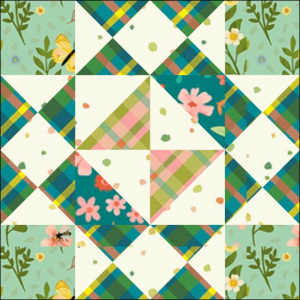 """Girl's Favorite Quilt Block Three from the """"Graceful Garden"""" 2021 BOM Quilt! A Free Pattern Featured at BOMquilts.com!"""