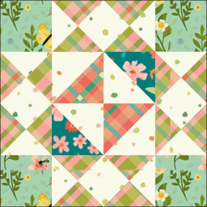 """Girl's Favorite Quilt Block One from the """"Graceful Garden"""" 2021 BOM Quilt! A Free Pattern Featured at BOMquilts.com!"""