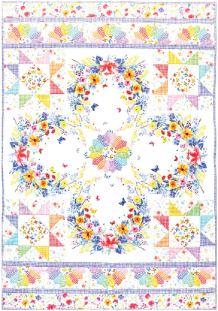 """""""Dreamscape"""" Free Easter Quilt Pattern designed by Heidi Pridemore from Michael Miller Fabrics"""