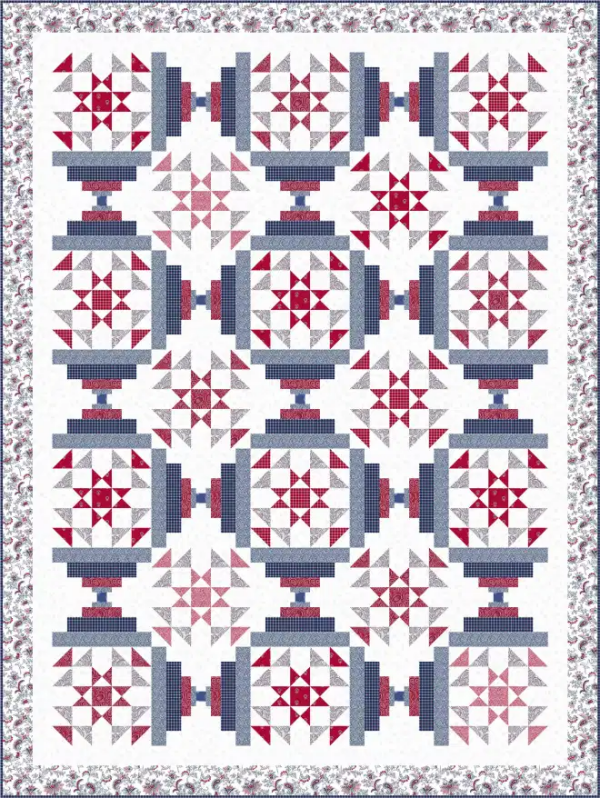 """Monroe"" Free Quilts of Valor (QOV) Pattern designed by Wendy Sheppard from Ivory Spring"
