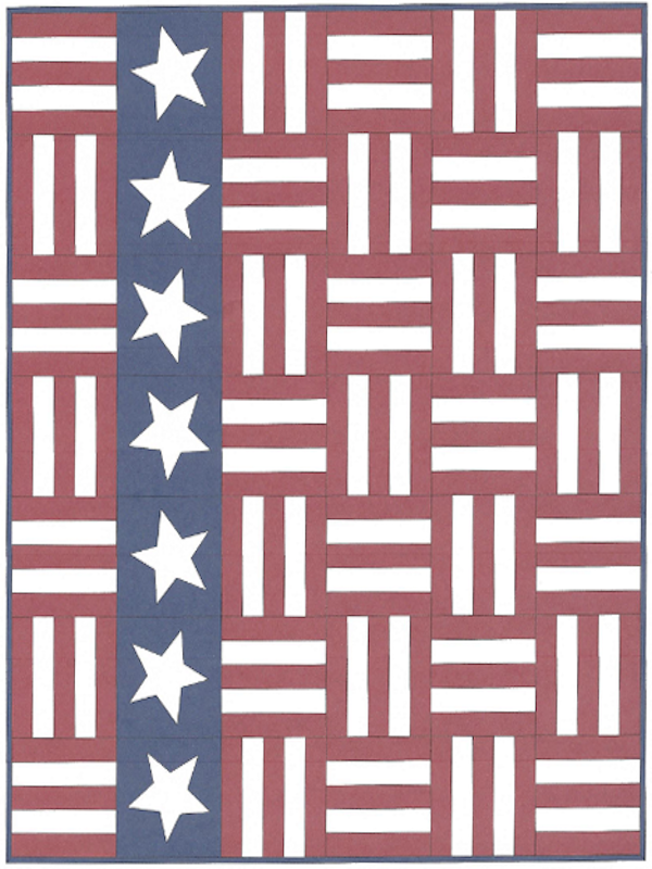"""Stars and Stripes"" Free Quilts of Valor (QOV) Pattern designed by Susan Prickett from Suzy's Quilting Room"
