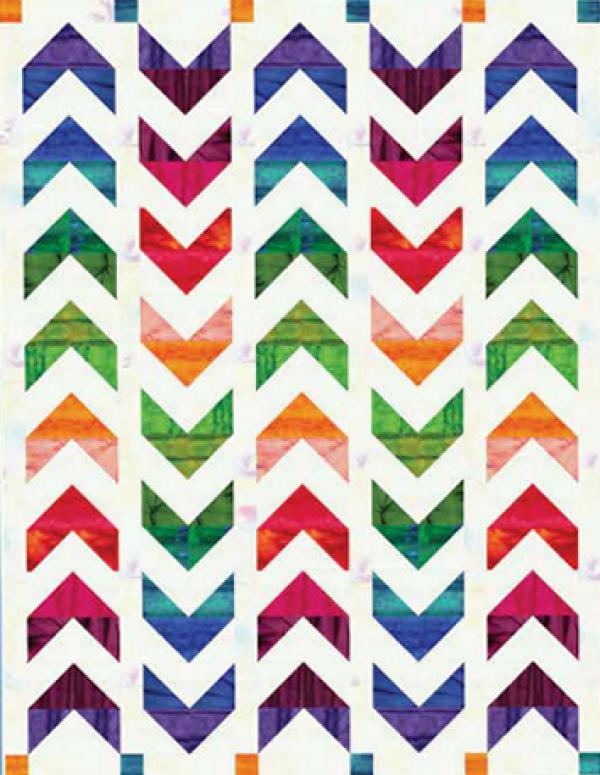 """Always Chasing Rainbows"" a Free Summer Quilt Pattern designed by Benartex Studio from Benartex"