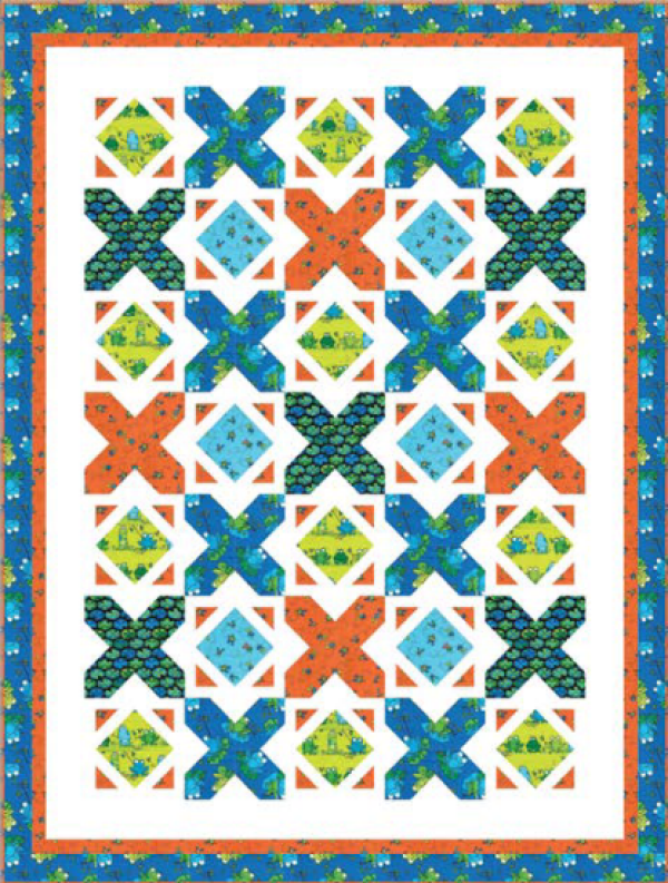 """""""At the Pond"""" a Free Summer Quilt Pattern designed by Wendy Sheppard from Benartex"""