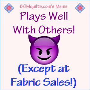BOMquilt's Meme: Do you play as well with others as I do?!