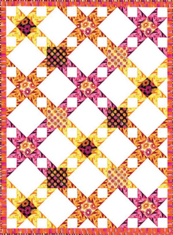 """""""A Little Ray of Sunshine"""" a Free Summer Quilt Pattern designed by the Benartex Studio from Benartex"""