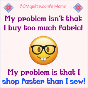 BOMquilts.com's meme: Sew what's it to you? I'm sure I'm not the only one who has this same problem am I?!