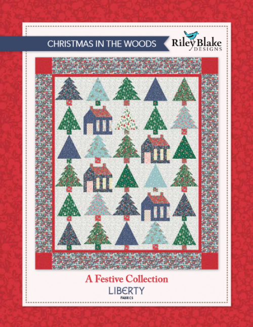 """""""Christmas in the Woods"""" is a Free Christmas Quilt Pattern designed & from Riley Blake Designs"""