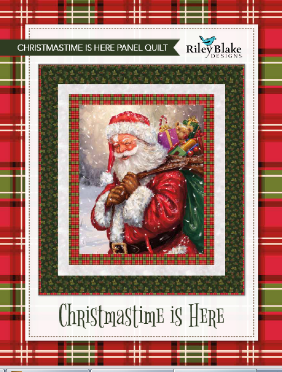 """""""Christmastime is Here"""" is a Free Christmas Quilt Pattern designed & from Riley Blake Designs"""