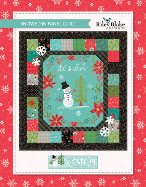 """""""Snowed In"""" is a Free Christmas Quilt Pattern designed & from Riley Blake Designs"""