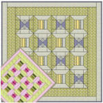 Sweet Pea Trellis and Angel Wings Quilt