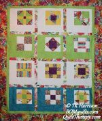 Modern Framed Classics: Bright & Beautiful an original design by TK Harrison for BOMquilts.com