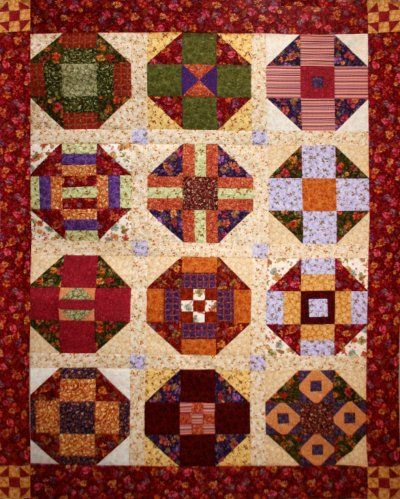 Bittersweet Churning 2012 BOM Quilt Exclusively Designed by BOMquilts.com