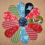 Dresden Fan Fun Reversible Round Table Runner designed by TK Harrison for BOMquilts.com