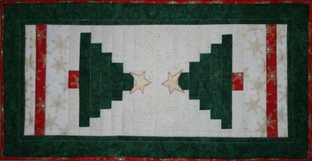 Christmas Tree Joy Table Runner designed by TK Harrison from BOMquilts.com