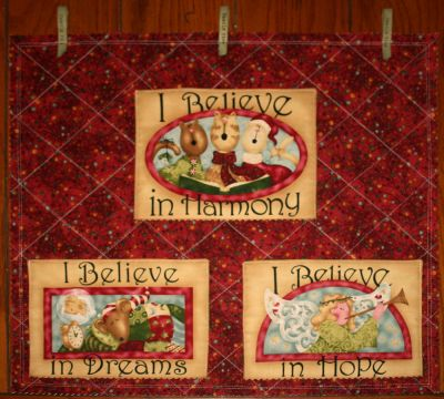 Christmas in July 2010 - I Believe in a Card Holder from BOMquilts.com