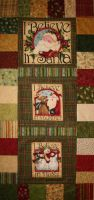 Christmas in July 2010 - I Believe in a Wall Hanging from BOMquilts.com