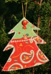 Gift Card (or Money) Holder Quilted Project - Christmas Tree