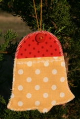 Gift Card (or Money) Holder Quilted Project - Christmas Bell