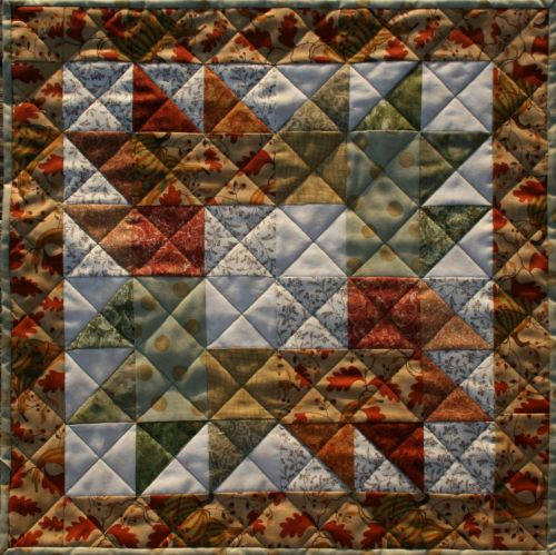 Maple Leaves Falling On The Table Free Quilted Top Pattern Designed By Tk Harrison From Bomquilts