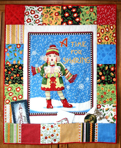 The Caroler Christmas Card Holder designed by BOMquilts.com