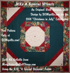 MKs A Special Wreath Wall Hanging from BOMquilts.com
