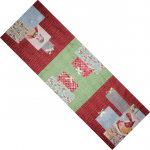 Merry Stitches Presents Table Runner designed by TK Harrison for BOMquilts.com