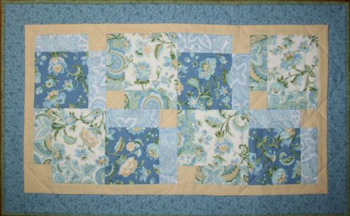 Subtle Skies Table Runner designed by TK Harrison from BOMquilts.com