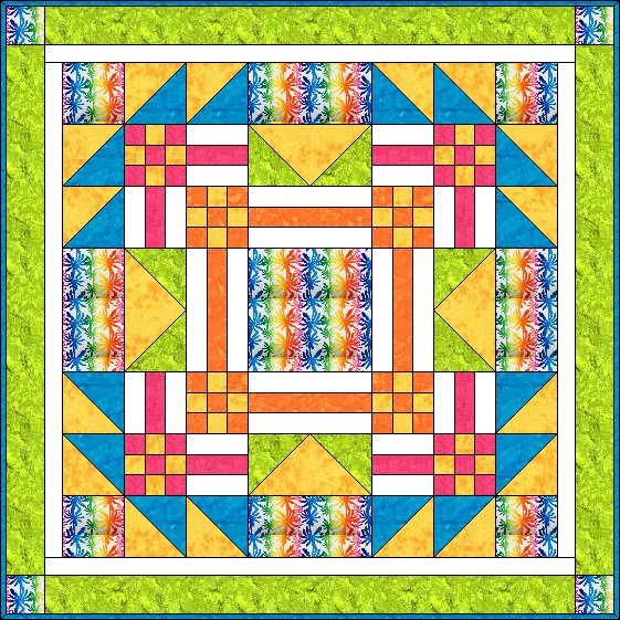 Sunshine Breeze - an Original Design and Free Quilt Pattern by TK Harrison for BOMquilts.com