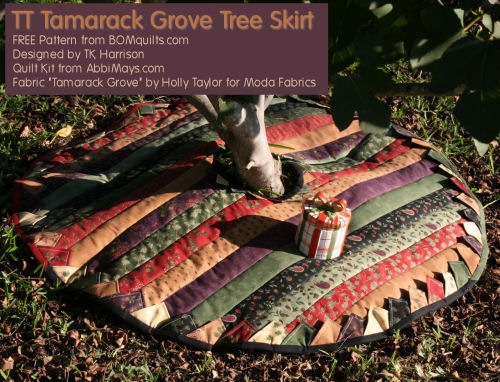 TT Tamarack Grove Tree Skirt from BOMquilts.com