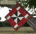 Scrappy Snappy Potholder #4 from BOMquilts.com
