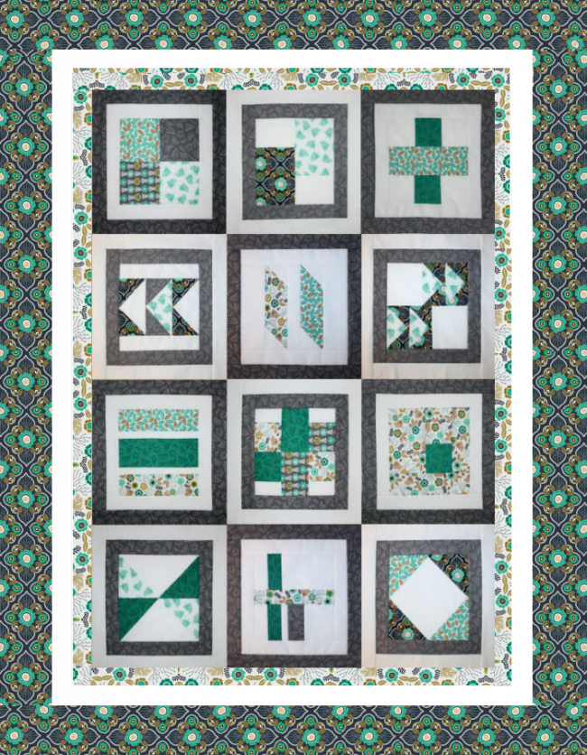 Quilt therapy for Modern house quilt block